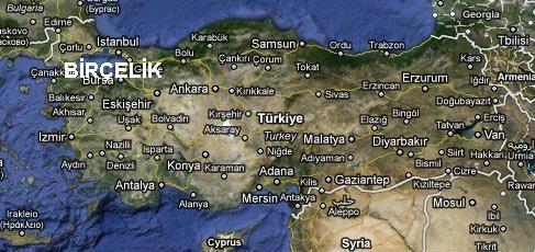 Birçelik Türkiye Lokasyon